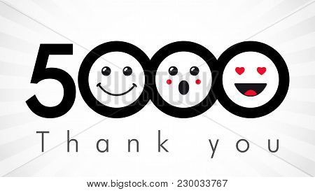 Thank You 5000 Followers Numbers
