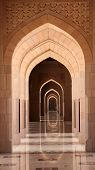 picture of oman  - Archway in the Sultan Qaboos Grand Mosque Muscat Oman - JPG