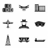 Branch Of Production Icons Set. Simple Set Of 9 Branch Of Production Vector Icons For Web Isolated O poster