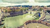 Aerial Panoramic View Of Rome poster
