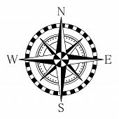 Compass Wind Rose. Compass Icon. Vector Illustration poster