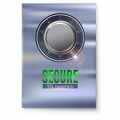 Information Poster With Secure Ssl Connection. Concept Security Of Information And Data Protected. S poster