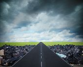 The Right Way For A Clean Environment. Overcome The Global Pollution Problem poster