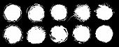 Set Of Grunge Circles. Vector Grunge Round Shapes.  Black And White (alpha Channel) Shapes, Stains A poster
