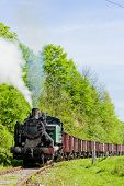 image of former yugoslavia  - steam freight train - JPG