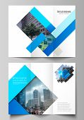 The Minimal Vector Illustration Of Editable Layouts. Modern Creative Covers Design Templates For Tri poster