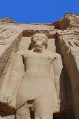 stock photo of ramses  - Abu Simbel Temple of King Ramses II - JPG