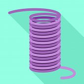 Coil Cable Icon. Flat Illustration Of Coil Cable Vector Icon For Web Design poster