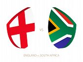 England V South Africa, Icon For Rugby Tournament. Rugby Vector Icon. poster