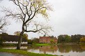 Egeskov, Denmark: Egeskov Castle Located In The South Of The Island Of Funen In Denmark. poster