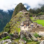 Machu Picchu, Panoramic View Of Peruvian Incan Town, Unesco World Heritage Site, Sacred Valley, Cusc poster