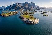 Henningsvaer Lofoten is an archipelago in the county of Nordland, Norway. Is known for a distinctive poster