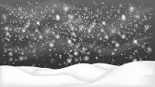 Snowy Landscape Isolated On Dark Background.christmas, Snowy Woodland Landscape. Winter Background W poster