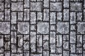 Stone Tile Texture, Gray Stone Tile Background, Gray Geometric Texture, Gray Geometric Background, S poster