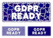 Gdpr Ready Rounded Rectangle Composition Of Uneven Pieces In Different Sizes And Shades, Based On Gd poster