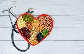Healthy Food Selection Clean Eating For Heart Life Cholesterol Diet Health Concept / Mixed Various B poster