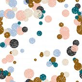 Abstract Colorful Dotted Seamless Pattern. Round Grunge Geometric Background. Infinity Geometrical P poster