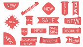 New Collection Sale Tags Shop Product, Labels Or Sale Posters.blank, Discount And Price Tags. Specia poster