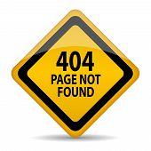 stock photo of not found  - 404 page not found vector sign isolated on white background - JPG