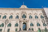foto of prime-minister  - The Auberge de Castille houses the office of the Prime Minister of Malta in Valletta - JPG