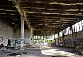 picture of premises  - abandoned and dilapidated factory building on a former company site - JPG