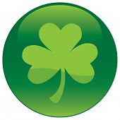 stock photo of shamrock  - Shamrock with tree leaf icon  - JPG
