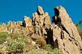stock photo of piestewa  - Beautiful Rock Formation on Piestewa  - JPG