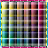 palette CMYK in increments of 20 points