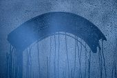 image of condensation  - Natural blue water drop background - JPG