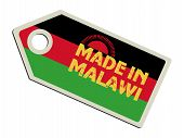 label with flag of Malawi