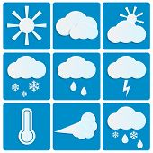 Weather And Climate.set Of Meteo Icons.vector