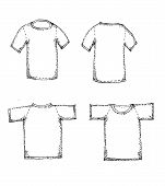 image of apparel  - an images of  Apparel shirts template t - JPG