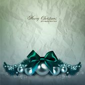 stock photo of shimmer  - Elegant  background with Christmas garland - JPG