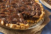 foto of pecan  - Homemade Delicious Pecan Pie for the Holidays - JPG