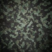 picture of camoflage  - Grunge military camouflage  - JPG