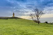 image of hercules  - Tower of Hercules the almost 1900 years old and rehabilitated in 1791 55 metres tall structure is the oldest Roman lighthouse in use today and overlooks the Atlantic coast of Spain from A Coruna - JPG