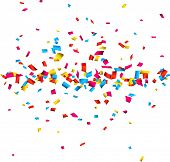 stock photo of confetti  - Colorful celebration background with confetti - JPG