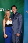 LAS VEGAS - APR 8:  Julie Benz, Grant Bowler at the NBCUniversal Summer Press Day at Huntington Lang