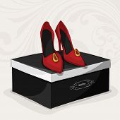 Fashion woman's red shoes
