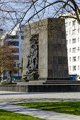 Ghetto Heroes Memorial In Warsaw, Poland