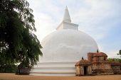 picture of vihara  - Kiri Vihara stupa in Polonnaruwa Sri Lanka - JPG