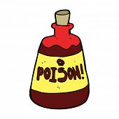 cartoon bottle of poison