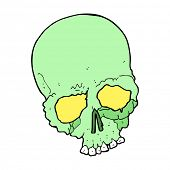 cartoon spooking old skull