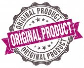 Original Product Violet Grunge Retro Vintage Isolated Seal