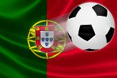 Soccer Ball Leaps Out Of Portugal's Flag