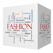 Fashion 3D Cube Word Cloud Concept
