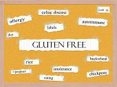 picture of pegboard  - Gluten Free Corkboard Word Concept with great terms such as celiac disease foods and more - JPG