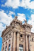 pic of neo-classic  - Old customs building constructed in 1902 locate in the Port of Barcelona Spain - JPG