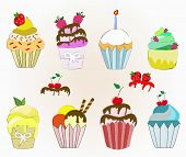 colorful cupcake collection