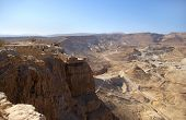 pic of zealots  - View on Masada fortress and Judean desert Israel - JPG